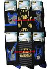 12 Mens Batman 100% Official Cartoon Novelty Character Socks / UK 6-11