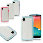 1PC Frame Bumper Case Cover Hard+TPU Buttons For LG Nexus 5 Tide