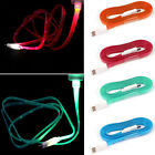 1PC 1M Light Up LED Micro USB Data Sync Charger Cable For OnePlus One Tide