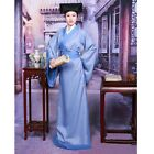 Traditional Chinese Men Clothes Ancient Han Long Gown Robe Costume Hat Outfit