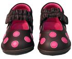 NIB~BOUTIQUE~L'AMOUR/ANGEL~MARY JANE SHOES~LEATHER~POLKA DOT~INFANT/TODDLER