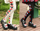 Women Girl Poker Card Alice Punk Lolita Stocking Thigh high Sock Dance Cosplay
