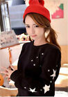 Women Long Sleeve Casual Tops Jumper Loose Blouse Pullover Star Hoodies Sweater