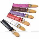Various Color Leather Watch Croco Grain Print Strap Band 18mm 20mm 22mm Jewel
