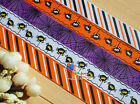 "1""HALLOWEEN Spider Web Stripe Grosgrain Ribbon 4 hair Bow 50/100Yds 5designs"