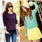 Hot Long Sleeve Oversized Batwing Sweater Loose Tops Jumper Pullover Knitwear