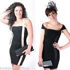 HIGH QUALITY BLACK & GOLD BANDAGE BODYCON COCKTAIL STRETCH PARTY MINI DRESS