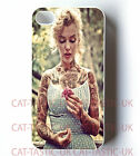 Marilyn Monroe case Cover iPhone 4 4s 5 5s 5C,6,6 plus /VTG/Vintage/pink/tattoo