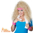 Adult Lets Get Physical Wig 80s Ladies Olivia Newton John Celebrity Fancy Dress