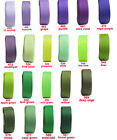 "5y 10y 50mm 2"" Lilac Purple Green Moss Emerald Grosgrain Ribbon Eco Quality"