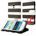 Housse pochette maritime ancre Samsung Apple S3 S4 mini iPhone