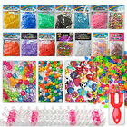 Loom bands weaving boards tools c clips charms beads fishtail UV bands