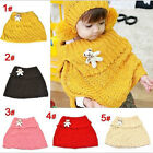 Fashion Chic Cute Baby Toddler Kids Knitted Scarf Wrap Cappa With a Bear AB US□