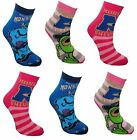 Disney Monsters University Girl's 6 pack Non Skid Slipper Socks