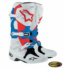 Alpinestars Tech 10 Boots Patriot Motocross Motorcycle Mx w/ Moto Bracelet