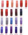 """25yd 25mm 1"""" Red Coral Burgundy Purple Lilac Grosgrain Ribbon Gift Eco Quality"""