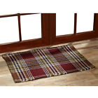 """Jackson Wool & Cotton Woven Rugs Red, Navy & Olive Green 20"""" x 30"""" to 8' x 11'"""