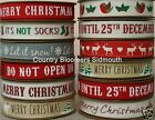 100% Cotton Christmas Ribbon ♥ Assorted Designs  ♥ 15mm ♥ 1, 3 or 5 Metres
