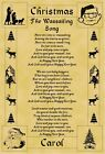 A4 Parchment Poster Christmas Wassailing Song  - Greeting Card Option Available