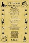 A4 Parchment Poster Christmas While Shepherds  - Greeting Card Option Available