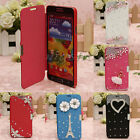 New Luxury Bling Diamond Flip PU Leather Case Cover For Samsung Galaxy S5 i9600