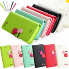 HIGH QUALITY CUTE CHERRY LEATHER STAND FLIP WALLET CASE COVER FOR IPHONE4 4G 4S