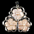 """B6328 Purfle shell flower pendant,more color to select 1.5x1.4"""""""