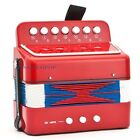 Kids Accordion Acoustic Instrument Button Piano 7 Key 2 Bass Toy Orange/Pink/Red