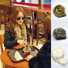 1x Faux Fox Fur Collar Raccoon Fur Scarf Collar Women Shawl Wraps Christmas Gift