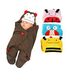 Animal Cartoon Kids Baby Cute Blanket Swaddle Sleeping Bag Stroller Wrap