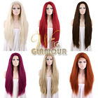 "18""-28""Long Straight Black Blonde Red Brown Custom-made Color Lace Front Wig"