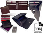 Mala RFID Quality Real Leather Coin Tray Wallet Purse Pocket Pouch Credit Card
