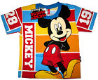 Boys MICKEY MOUSE short sleeve cotton summer t-shirt Sz S-XL Age 3-8yrs FreeShip
