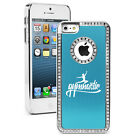 For iPhone 6 6s Plus Rhinestone Bling Case Cover Gymnastic Calligraphy