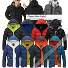 High Quality Men Winter Slim Casual Jacket Hooded Wadded Coat Thicken Outerwear
