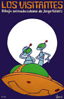 4634.Los visitants.two aliens and spaceship.movie.POSTER.Decoration.Graphic Art