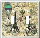 EIFFEL TOWER PARIS FRANCE MAP HOME DECOR LIGHT SWITCH OR OUTLET COVER V748
