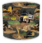 Boys Lampshades Ideal To Match Construction Digger Tractor Duvets & Wall Decals.