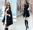 Fashion Winter Warm Women Loose Cape Batwing Wool Cloak Coat Poncho Jacket