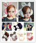 Women's Winter Bow Earmuffs Ear Warm Fluffy Ear Muffs Earlap Rabbit Fox Fur New