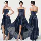 Bling Bling~ Empire Waist Bridesmaid Cocktail Party Prom High-Low Evening Dress
