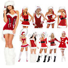Women Sexy Santa Claus Christmas Costume Cosplay Outfit Fancy Dress 10 Styles