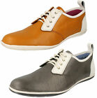 HARRYKSON MENS CASUAL LEATHER LACE UP SUEDE LINING  SHOES IN 2 COLOURS PE 20138