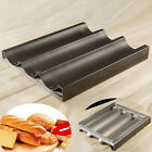 Non Stick Black Baguette Mold French Bread Pan Bake Tray 3 Loaf Bakery Pan