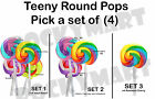 (SET OF 4) Teeny Round Twisty Mini Lollipops Classic Candy You Pick Set RM2756