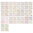 ST45 1 Sheet, 6 Sheets 4-in-1 Nail Art Water Transfers Decals-BOP248-303