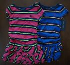 NWT Ralph Lauren Girls S/S Ruched Striped Cotton Dress Sz 2/2t 3/3t 4/4t NEW 5l