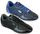 Mens Trainers VOI JEANS Shoes Murano Larson Lace Up Quilted Patent Designer New