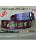 Mahogany Leather Belts - Customized Belts - Name Belt - Ladies Western Belts