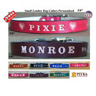 Leather Collar for Dogs - Pet Collars with Name - Custom Puppy Collars - Small